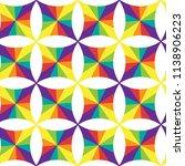 geometric seamless pattern of... | Shutterstock . vector #1138906223