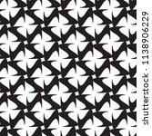monochrome floral geometric... | Shutterstock . vector #1138906229