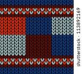 seamless knitted background | Shutterstock . vector #113892169