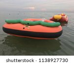 water inflatable boats rides on ... | Shutterstock . vector #1138927730