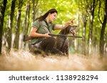 autumn hunting season. hunting. ... | Shutterstock . vector #1138928294