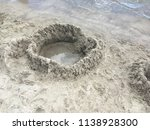 sand castle built by the child... | Shutterstock . vector #1138928300