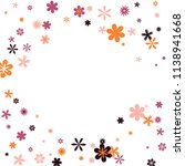 feminine floral pattern with... | Shutterstock .eps vector #1138941668