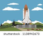 space shuttle ready to launch | Shutterstock .eps vector #1138942673