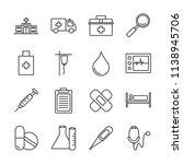 medical outline icon set | Shutterstock .eps vector #1138945706