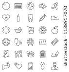 thin line vector icon set  ... | Shutterstock .eps vector #1138957070
