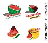 a set watermelon 3d logo emblem | Shutterstock .eps vector #1138962050