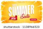 summer sale template banner ... | Shutterstock .eps vector #1138966523