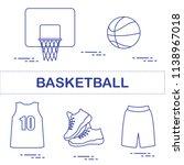 sports uniform and equipment... | Shutterstock .eps vector #1138967018