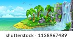 coast of tropical island with... | Shutterstock .eps vector #1138967489