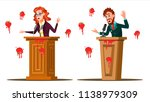 fail speech vector. businessman ... | Shutterstock .eps vector #1138979309