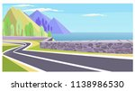 country road at sea and... | Shutterstock .eps vector #1138986530