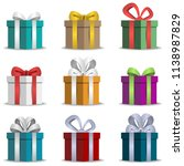 gifts. box. festive packaging.... | Shutterstock . vector #1138987829