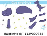 educational paper game for kids.... | Shutterstock .eps vector #1139000753