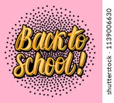 card back to school hand... | Shutterstock .eps vector #1139006630