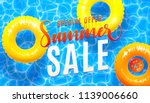 summer sale banner background... | Shutterstock .eps vector #1139006660