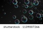 foam bubbles with rainbow... | Shutterstock .eps vector #1139007266