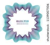 guilloche pattern on white... | Shutterstock .eps vector #1139007506