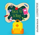 back to school sale banner ...   Shutterstock .eps vector #1139007959