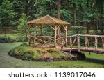 rustical gazebo at vysoka ... | Shutterstock . vector #1139017046