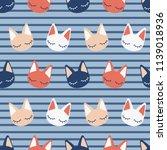 lovely colorful kawaii kitten...   Shutterstock .eps vector #1139018936