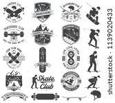 set of skateboard and longboard ...   Shutterstock .eps vector #1139020433