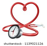a stethoscope in a heart shape... | Shutterstock .eps vector #1139021126