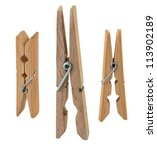 Open Wooden Clothespin ...