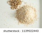 bran oatmeal coarse  useful ...   Shutterstock . vector #1139022443