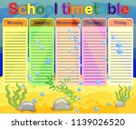 design of the school timetable... | Shutterstock .eps vector #1139026520