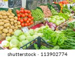 fruits and vegetables at the... | Shutterstock . vector #113902774