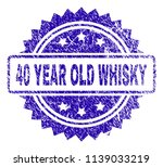 40 year old whisky stamp... | Shutterstock .eps vector #1139033219