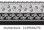 horizontal flower border  | Shutterstock .eps vector #1139036270