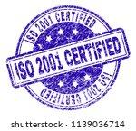 iso 2001 certified stamp seal... | Shutterstock .eps vector #1139036714