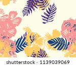 tropical background. green ... | Shutterstock .eps vector #1139039069