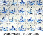 close up of antique tin glazed... | Shutterstock . vector #1139040389