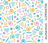 memphis style pattern abstract... | Shutterstock .eps vector #1139044706