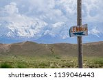 the sign with direction on...   Shutterstock . vector #1139046443