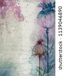 watercolor fall texture old... | Shutterstock . vector #1139046890