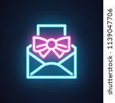 email neon icon. pictograph for ...