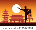 chinese boxing kung fu martial... | Shutterstock .eps vector #1139049239