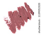 smudged lipstick isolated on... | Shutterstock . vector #1139052320