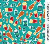 seamlees pattern fast food... | Shutterstock .eps vector #1139053559