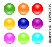 rainbow color balls isolated on ... | Shutterstock .eps vector #1139060960