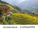 the longsheng rice terraces... | Shutterstock . vector #1139063990