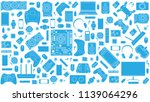 gadgets and devices pattern   Shutterstock . vector #1139064296