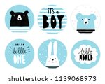 hand drawn candy bar baby... | Shutterstock .eps vector #1139068973
