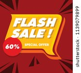 flash sale banner with flat... | Shutterstock .eps vector #1139079899