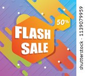 flash sale banner with flat... | Shutterstock .eps vector #1139079959