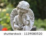 weeping angel statue on a...   Shutterstock . vector #1139080520